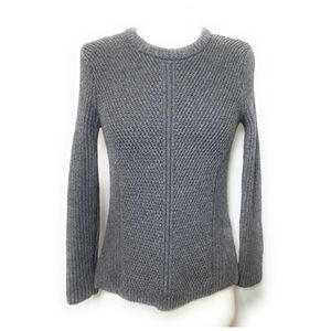 MADEWELL Gray Textured Crewneck Sweater Size S